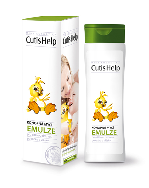 CutisHelp mimi Hemp cleansing EMULSION for body and hair 200 ml